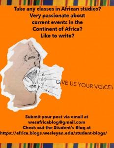 African Studies Blog Poster