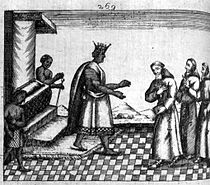 210px-King_Dom_Garcia_of_Kongo receiving missionaries 1641 to 1661