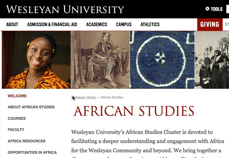 African Studies, Wesleyan University