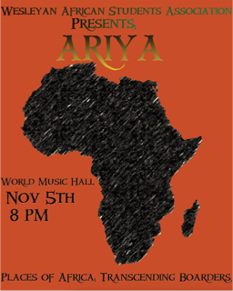 Nov 5: Ariya, African Students Association's annual cultural event