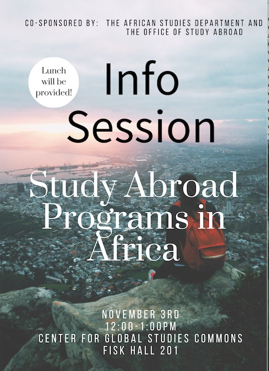 Nov 3: African Studies and Study Abroad